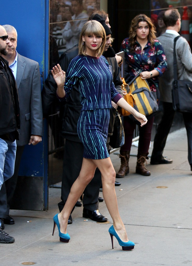 Taylor Swift makes an appearance at Good Morning America on Oct. 27, 2014. (Zelig Shaul/Ace Pictures/Zuma Press/MCT)